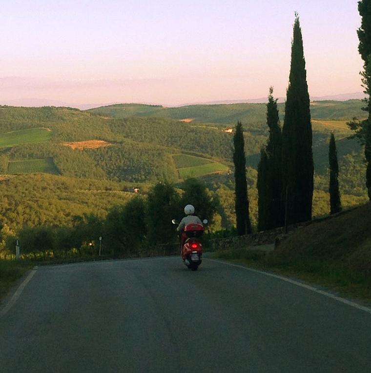 Tuscany Italy Vespa